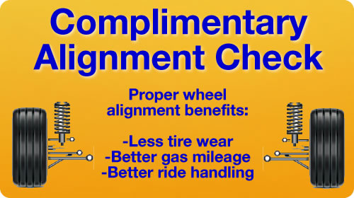 Complimentary Alignment Check this month at Longo Toyota