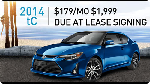 2014 Scion tC Special - $179/Mo. $1,999 Due at Lease Signing