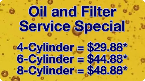 Service Special - Oil and Filter Change Special