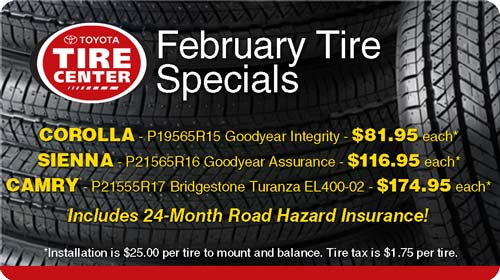 February Tire Specials