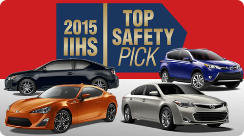 Toyota named 2015 IIHS Top Safety Pick