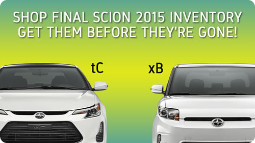 Shop Final Scion 2015 Inventory and get them before they're gone!