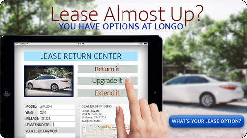 Lease Almost Up? You have options at Longo!