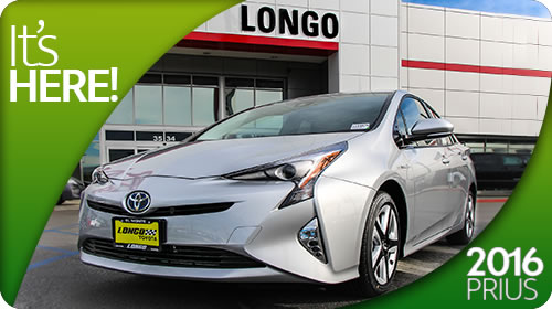 The 2016 Prius has arrived at Longo Toyota!
