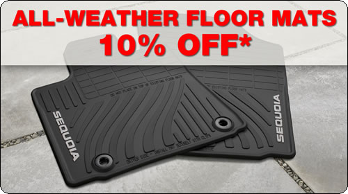 All-Weather Floormats 10% Off*