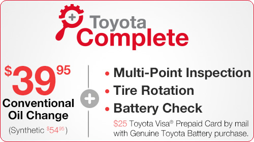 Toyota Complete Oil Change and Battery Special