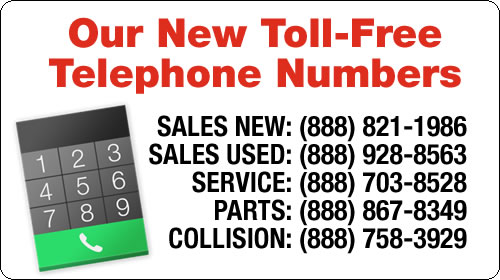 Our New Telephone Numbers!