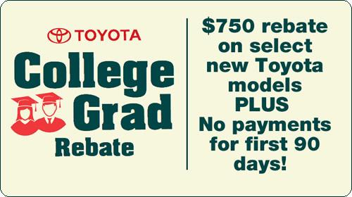 Toyota College Rebate Program