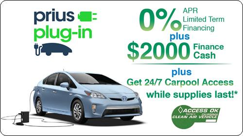 0% APR Longo Term Financing and $2000 Finance Cash plus Get 24/7 Carpool Access while Sticker Supplies Last.