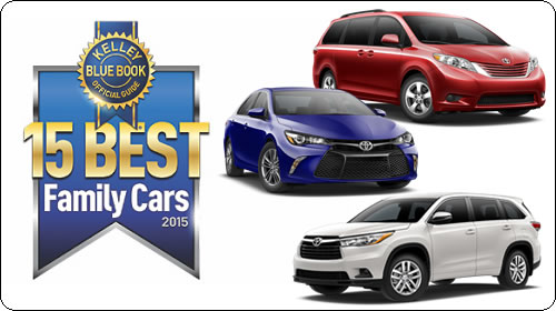 15 Best Family Cars Award by KBB.com