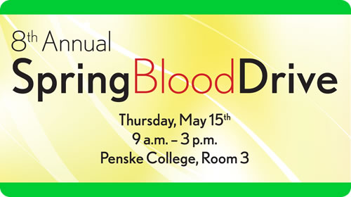 Spring Blood Drive - Thursday May 15th
