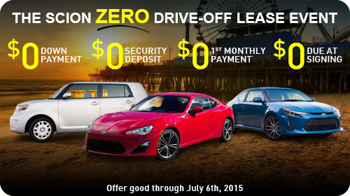 The Scion ZERO Drive-off Lease Event