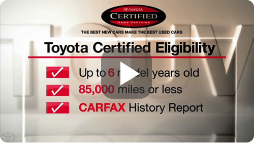 Toyota Certfied Used Vehicles