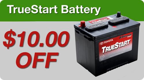 Toyota True Start Battery: $10 Off!